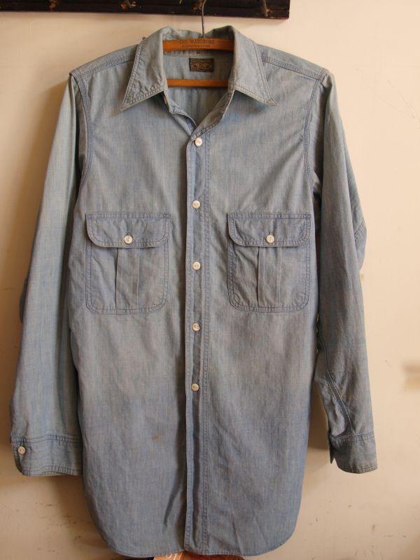 画像1: 30's-40's BIGYANK シャンブレーシャツ