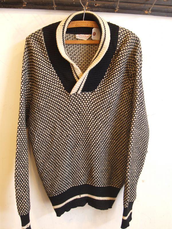 画像1: Minnesota Woolen ショールカラー セーター