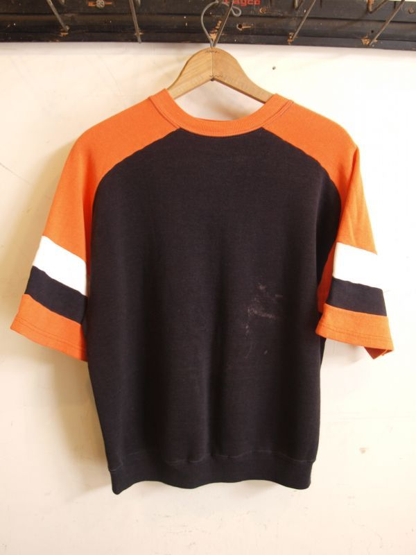 画像1: 70's フリーダムスリーブ 半袖 スウェットシャツ