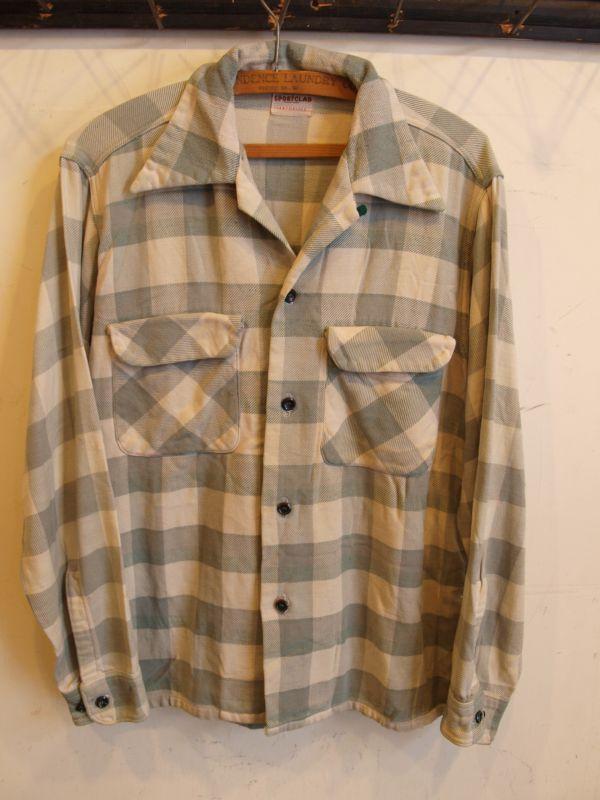 画像1: 50's SPORT CLAD PENNY'S ヘビーフランネルシャツ