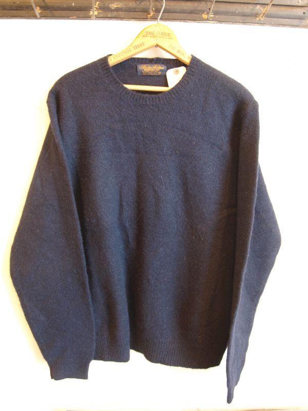画像1: Brooks Brothers SHELLAND Wool クルーネック セーター