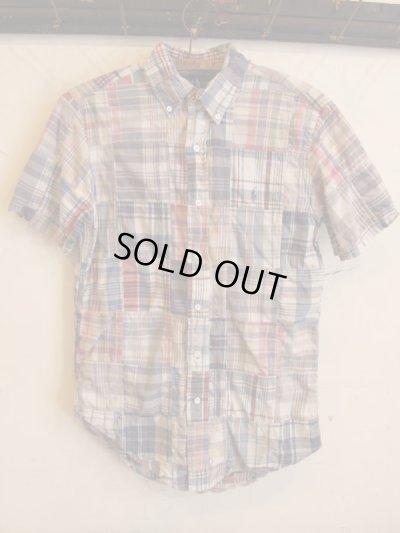 画像1: Ralph Lauren パッチワークシャツ
