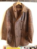 30's HERCULES Horsehide Leather Car Coat