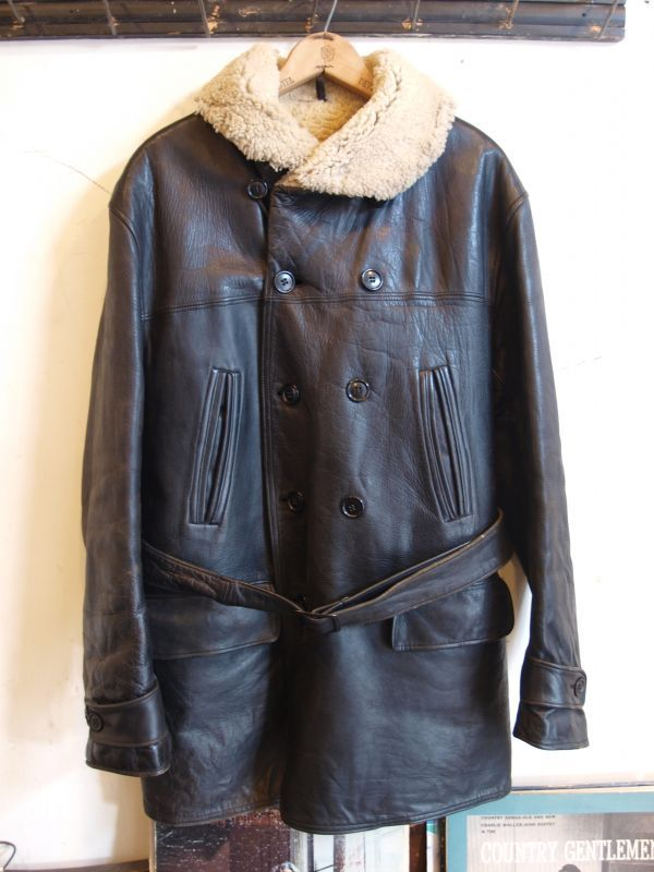 画像1: 30's HERCULES Horsehide Leather Car Coat