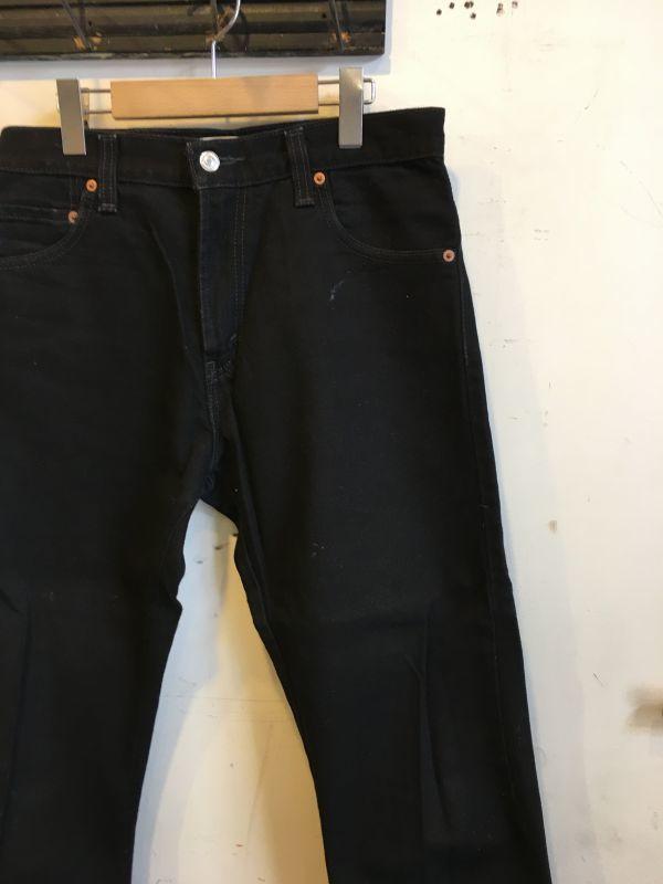 画像1: Levi's 517  ブラック パンツ
